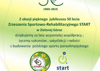 """Jubileusz 50-lecia ZSR """"START"""" Zielona Góra 8 - Start Poznań"""