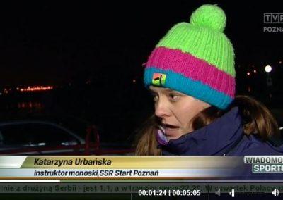Telewizja Poznań w Wiadomościach Sportowych o narciarzach monoski : Narciarstwo 3 - Start Poznań