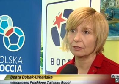 Telewizja Poznań Wiadomości Sportowe 26 .01.2016 o Polskim Związku Bocci Boccia 2 - Start Poznań
