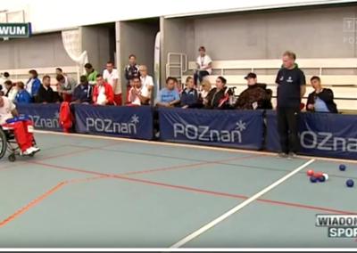 Telewizja Poznań Wiadomości Sportowe 26 .01.2016 o Polskim Związku Bocci Boccia 3 - Start Poznań