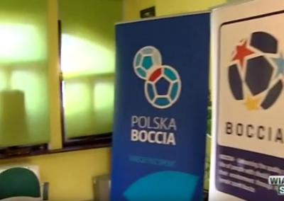 Telewizja Poznań Wiadomości Sportowe 26 .01.2016 o Polskim Związku Bocci Boccia 7 - Start Poznań