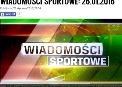 Telewizja Poznań Wiadomości Sportowe 26 .01.2016 o Polskim Związku Bocci Boccia 8 - Start Poznań