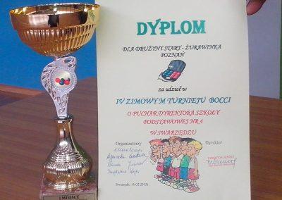 IV Zimowy Turniej Bocci o Puchar Dyrektora SP 4 Boccia 2 - Start Poznań