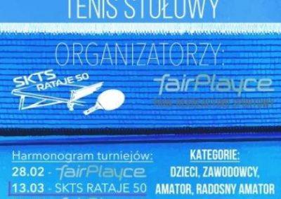 """Turniej tenisa stołowego w poznańskiej """"50-tce"""" Tenis stołowy 1 - Start Poznań"""
