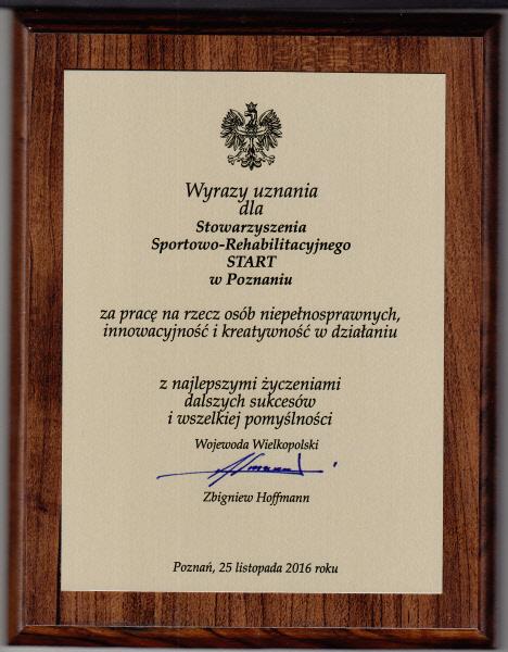"""""""START"""" doceniony przez Wojewodę Wielkopolskiego... 3 - Start Poznań"""