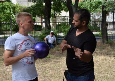 The net ring ball - traditional sport from Poland, first used in the Project. START Erasmus + Sport 12 - Start Poznań