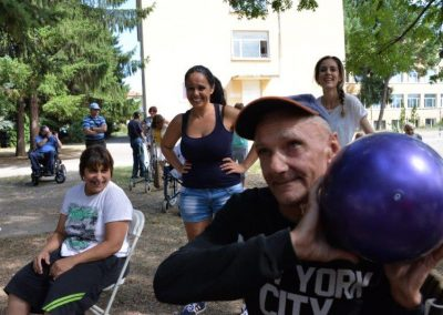 The net ring ball - traditional sport from Poland, first used in the Project. START Erasmus + Sport 13 - Start Poznań