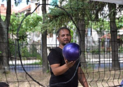 The net ring ball - traditional sport from Poland, first used in the Project. START Erasmus + Sport 17 - Start Poznań