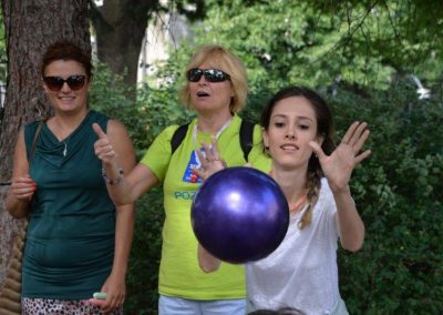 The net ring ball - traditional sport from Poland, first used in the Project. START Erasmus + Sport 23 - Start Poznań