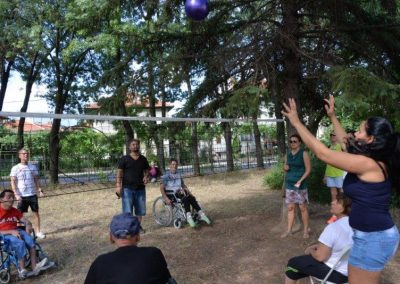The net ring ball - traditional sport from Poland, first used in the Project. START Erasmus + Sport 24 - Start Poznań
