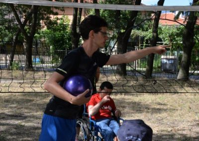 The net ring ball - traditional sport from Poland, first used in the Project. START Erasmus + Sport 28 - Start Poznań