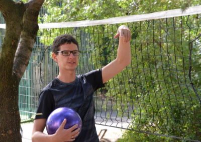 The net ring ball - traditional sport from Poland, first used in the Project. START Erasmus + Sport 30 - Start Poznań