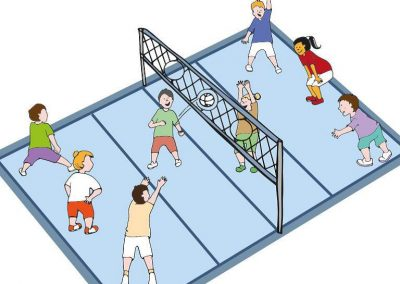 The net ring ball - traditional sport from Poland, first used in the Project. START Erasmus + Sport 33 - Start Poznań