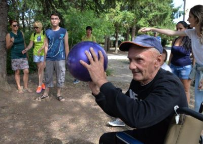 The net ring ball - traditional sport from Poland, first used in the Project. START Erasmus + Sport 10 - Start Poznań