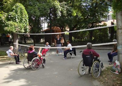 People with Disabilities playing Ringnetball and Dzhamiya in the Center of the Town of Kyustendil START Erasmus + Sport 3 - Start Poznań