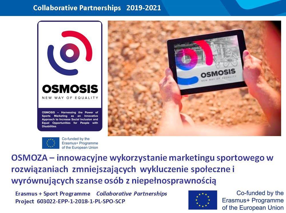 """""""OSMOZA""""- START Poznań beneficjentem ERASMUS+SPORT. 1 - Start Poznań"""