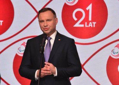 Wielkie święto polskiego sportu paraolimpijskiego - PREZYDENT NA GALI PARAOLIMPIJSKIEJ 45 - Start Poznań