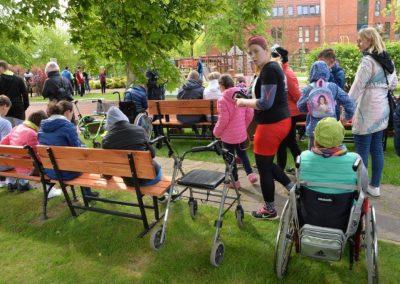 XXII Międzynarodowe Zawody w Czwórboju Lekkoatletycznym dla młodzieży niewidomej i słabowidzącej w Owińskach. 13 - Start Poznań