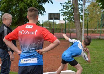 XXII Międzynarodowe Zawody w Czwórboju Lekkoatletycznym dla młodzieży niewidomej i słabowidzącej w Owińskach. 15 - Start Poznań