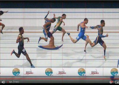 Michał Kotkowski w finale 200m Mistrzostw Świata w Paralekkoatletyce w Dubaju. 3 - Start Poznań