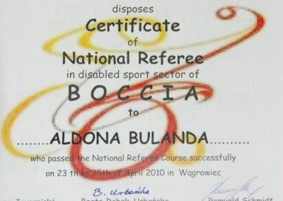 Boccia kurs sędziowski w Wągrowcu 2010 20 - Start Poznań