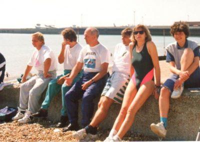 Sztafeta przez kanał La Manche 1994 10 - Start Poznań