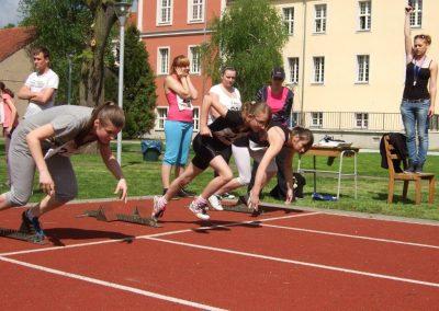 Zawody międzynarodowe niewidomej młodzieży LA OSW Owińska 2013 4 - Start Poznań