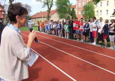 Zawody międzynarodowe niewidomej młodzieży LA OSW Owińska 2013 10 - Start Poznań