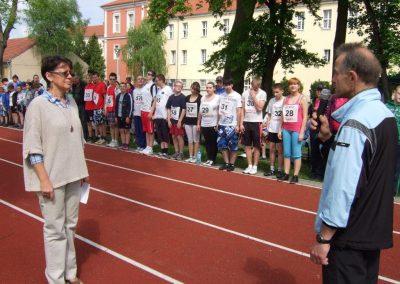 Zawody międzynarodowe niewidomej młodzieży LA OSW Owińska 2013 11 - Start Poznań