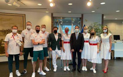 Dziś do Ambasady Polski w Tokio Paweł Milewski zaprosił przedstawicieli misji paraolimpijskiej!